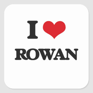 I Love Rowan Square Sticker