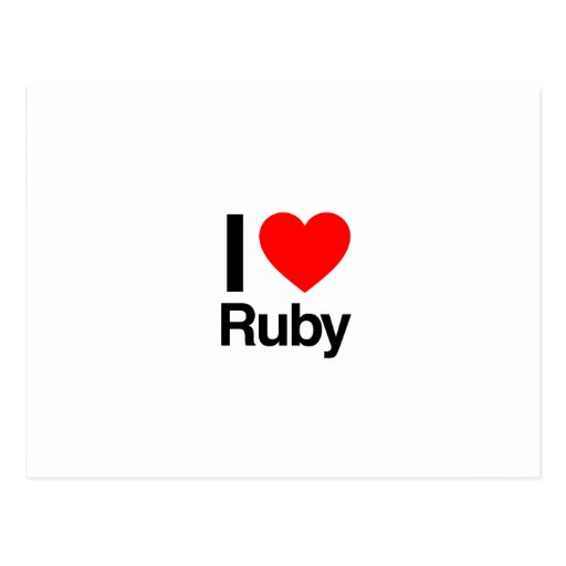 i love ruby post card
