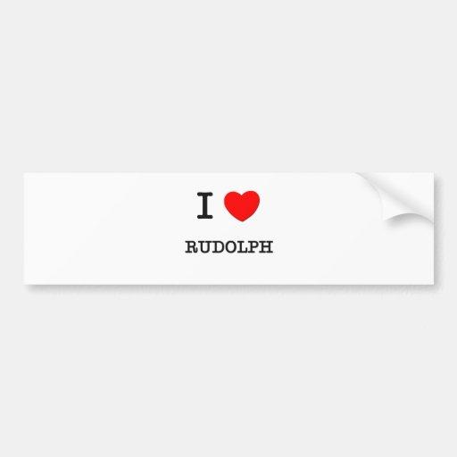 I Love Rudolph Bumper Sticker