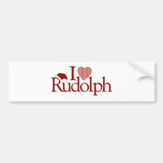 I Love Rudolph Bumper Stickers