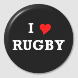 i love rugby autocollant rond