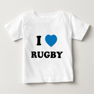 I Love Rugby Baby T-Shirt