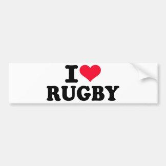 I love Rugby Bumper Sticker