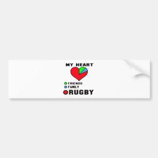I love Rugby. Bumper Sticker