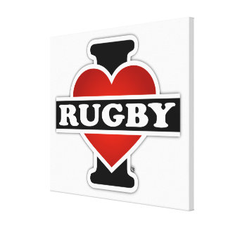 I Love Rugby Canvas Print