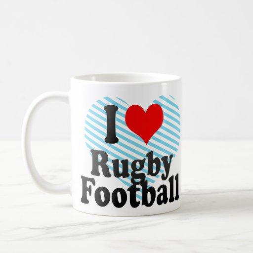 I love Rugby Football Basic White Mug
