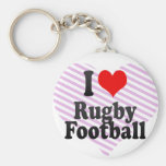 I love Rugby Football Keychains
