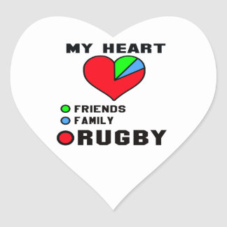 I love Rugby. Heart Sticker
