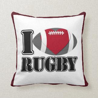 I Love Rugby Pillow Throw Cushion