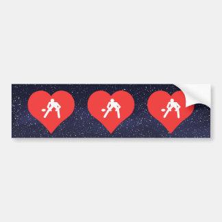 I Love Rugby Players Modern Bumper Sticker