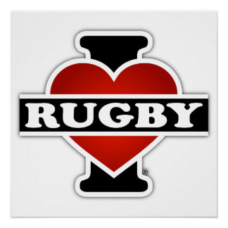 I Love Rugby Perfect Poster
