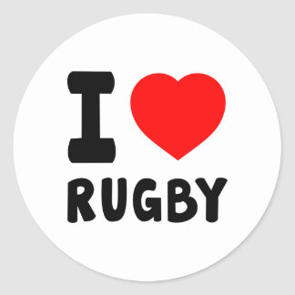 I Love Rugby Stickers