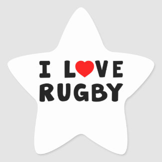I Love Rugby Sticker