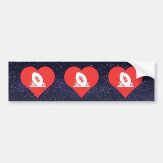 I Love Rugby Tries Cool Symbol Bumper Sticker