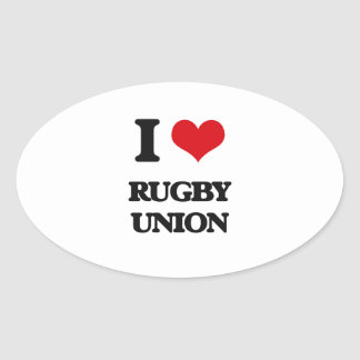 I Love Rugby Union Sticker