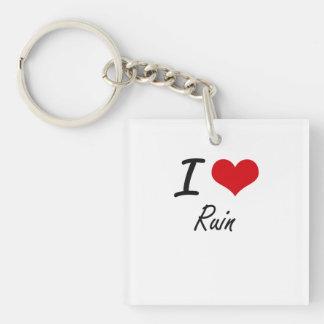 I Love Ruin Single-Sided Square Acrylic Key Ring