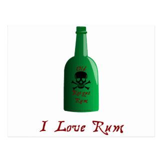 I love Rum Postcard