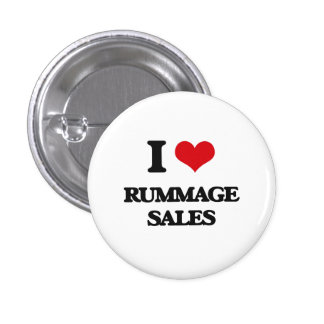 I Love Rummage Sales 3 Cm Round Badge