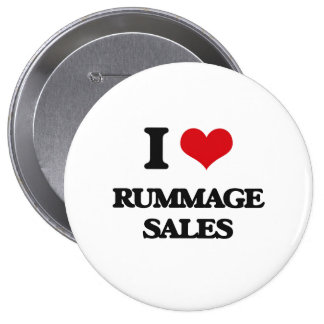 I Love Rummage Sales 10 Cm Round Badge