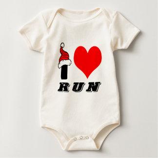 I Love Run Design Rompers