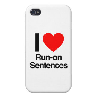 i love run-on sentences iPhone 4 cover