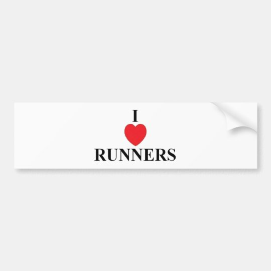 I Love Runners Bumper Sticker