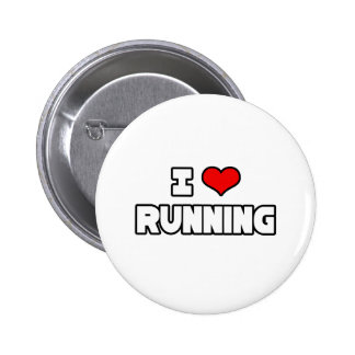 I Love Running 6 Cm Round Badge