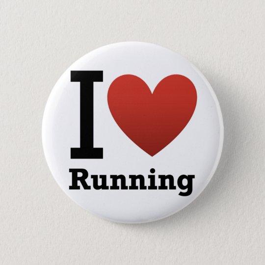 I Love Running 6 Cm Round Badge
