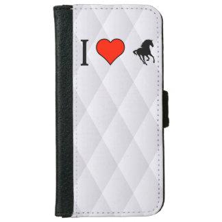 I Love Running Horses iPhone 6 Wallet Case
