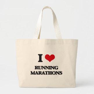 I love Running Marathons Jumbo Tote Bag