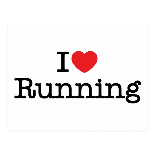 I love running postcard