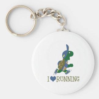 I love running turtle key ring