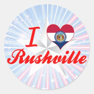 I Love Rushville, Missouri Sticker