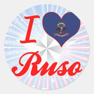 I Love Ruso, North Dakota Sticker