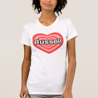 I love Russell. I love you Russell. Heart T Shirts