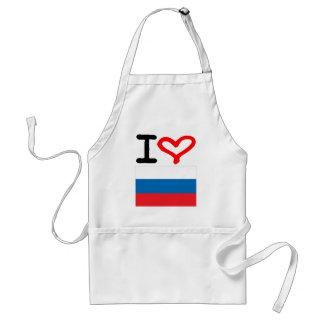 I love Russia Adult Apron