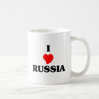 I Love Russia Basic White Mug
