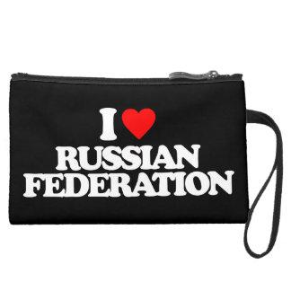 I LOVE RUSSIAN FEDERATION WRISTLET PURSES