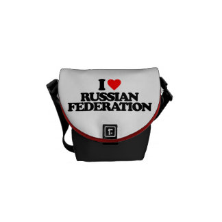 I LOVE RUSSIAN FEDERATION MESSENGER BAGS