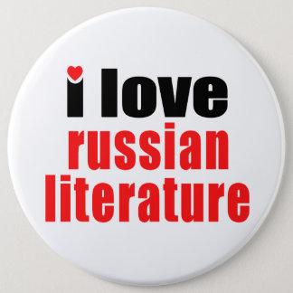 I Love Russian Literature 6 Cm Round Badge