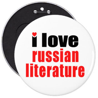 I Love Russian Literature 6 Cm Round Badge