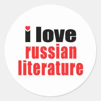 I Love Russian Literature Stickers