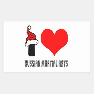 I Love Russian Martial Arts Design Stickers