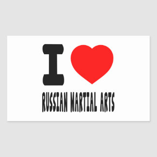 I Love Russian Martial Arts Rectangle Stickers