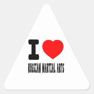 I Love Russian Martial Arts Sticker