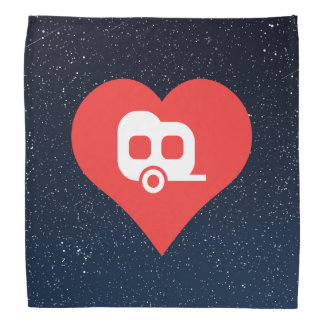 I Love Rv Trailers Design Bandana