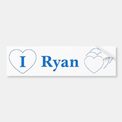 I Love Ryan (BpS) Bumper Stickers