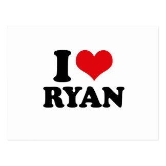 I LOVE RYAN POSTCARD