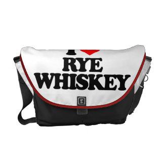 I LOVE RYE WHISKEY MESSENGER BAG