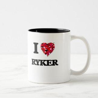 I Love Ryker Two-Tone Coffee Mug
